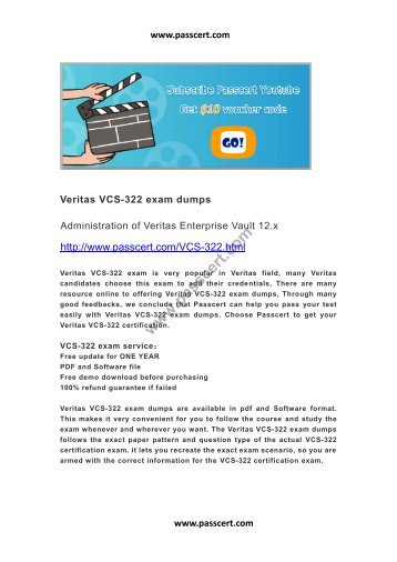 Veritas VCS-322 exam dumps