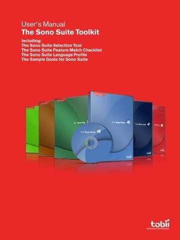 User's Manual The Sono Suite Toolkit - Tobii