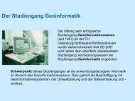Der Studiengang Geoinformatik