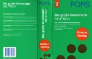 PONS Die grosse Grammatik Deutsch - Band 2