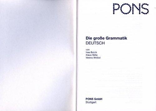 PONS Die grosse Grammatik Deutsch - Band 2