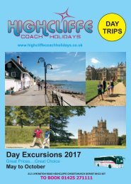 HCH 2017 -  Day Excursion Brochure 2nd edition