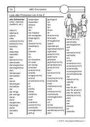 Liste aller Pronomen von A bis Z