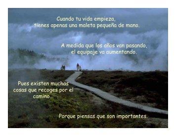 Cuando tu vida empieza, tienes apenas una maleta ... - Gabriel Zelaya