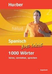 Spanisch ganz leicht 1000 Wörter, hören verstehen sprechen