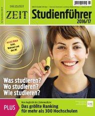 Zeit Studienfuhrer 2016-2017