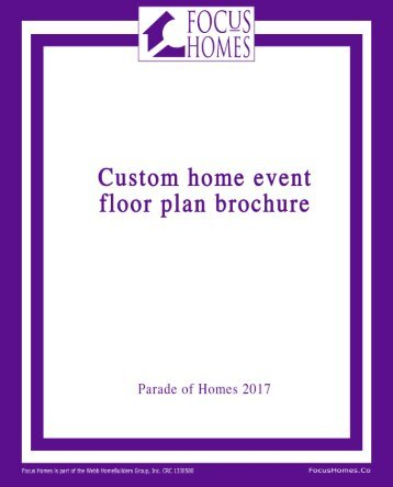 Parade of homes brochure cover page display 04-20-17