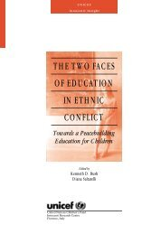 the two faces of education in ethnic conflict - Innocenti Research ...