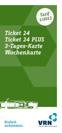 Die Pluspunkte - Verkehrsverbund Rhein-Neckar