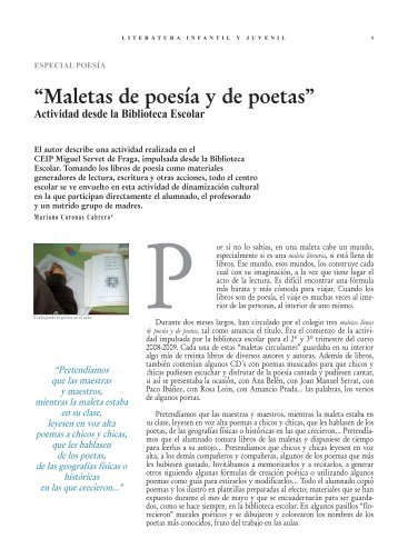 """""""Maletas de poesía y de poetas"""" - La cadiera de Macoca"""