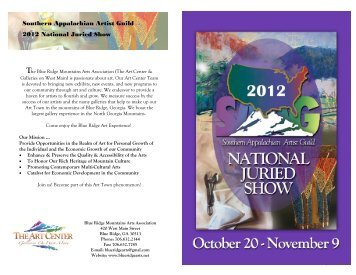 the 2012 SAAG Juried Show - Blue Ridge Mountains Arts Association