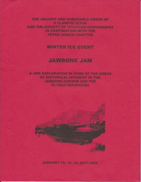 "6013/2008 Winter Vituscan \""Jawbone Jam\"""