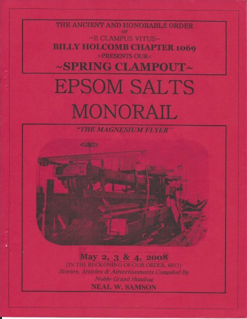 6013/2008 Spring Clampout, Epsom Salts Monorail