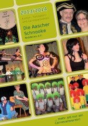 Jahresheft KTCV Aascher Schnooke 2013/2014