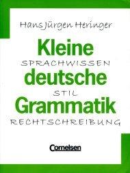 Kleine Deutsche Grammatik, Cornelsen