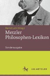 Metzler Philosophen Lexikon, Von den Vorsokratikern bis zu den Neuen Philosophen