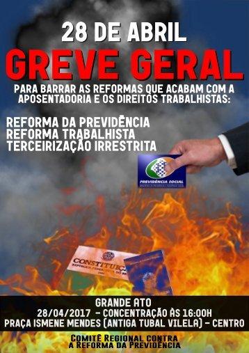 PANFLETO GREVE GERAL