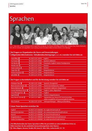 VHS-Programm 2-2012: Sprachen - Stadt Köln