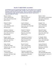 Inactive Certified Public Accountants - South Dakota Board of ...