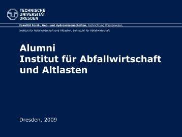 """Europäisches Model der Masterbildung """"Abfallwirtschaft"""""""
