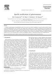 Specific modifications of galactomannans - Centre de recherches ...