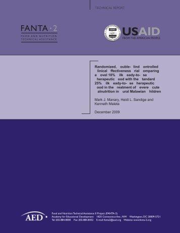 FANTA 2 - (PDF, 101 mb) - USAID