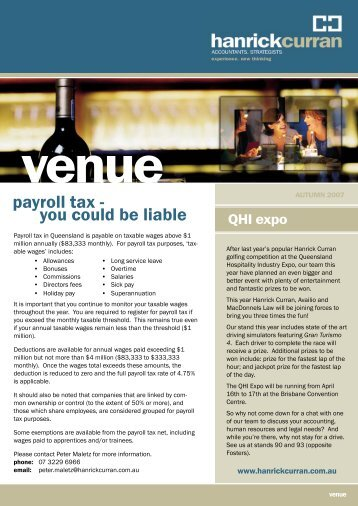 payroll tax - you could be liable - Hanrick Curran