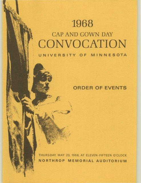 Convocation University Of Minnesota Digital Conservancy