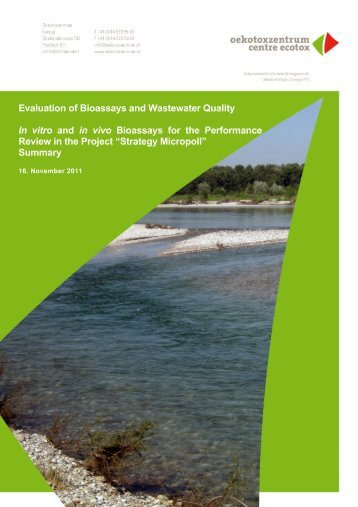 Evaluation of Bioassays and Wastewater Quality ... - Oekotoxzentrum