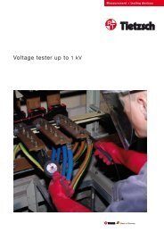 Voltage tester up to 1 kV