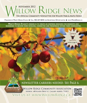 Willow ridge News - Willow Ridge Community Association