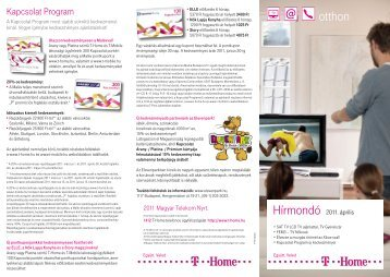 Hírmondó 2011. április III. (PDF, 1.41 MB) - T-Home