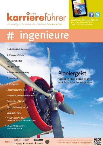 karriereführer ingenieure 1.2017 - Pioniergeist