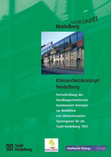 Schriftenreihe zur Umwelt Heft 1/2006 Klimaschutzkonzept Heidelberg