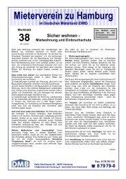 Mietwohnung und Einbruchschutz - Mieterverein zu Hamburg