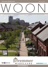 Bremmer Makelaars WOON magazine, mei 2017