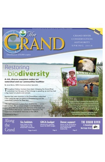 The GRCA - Grand River Conservation Authority