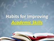 Habits for Improving Academic Skills(N)