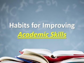 Habits for Improving Academic Skills(N)