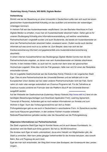 2. WS 08/09 - International Office - Universität Bremen