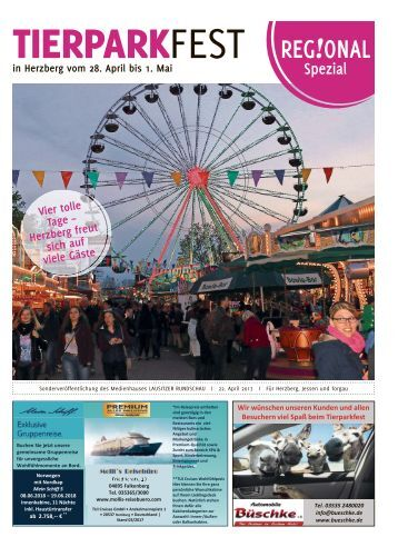 Regional Spezial - Tierparkfest in Herzberg vom 28. April bis 1. Mai