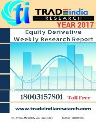 Weekly Derivative Prediction Report for 24-29 Apr 2017