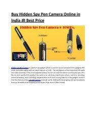 Buy Hidden Spy Pen Camera Online in India
