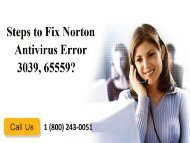 How to Resolve Norton Error 3039, 65559? 18002430051