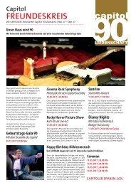 Capitol Freundeskreis Newsletter - Mai-September 2017