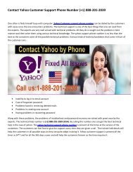 1-888-201-2039 USA YAhoo Support Phone Number