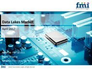 Data Lakes Market to Register a Healthy CAGR for the forecast period, 2017-2027