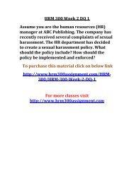 UOP HRM 300 Week 2 DQ 1