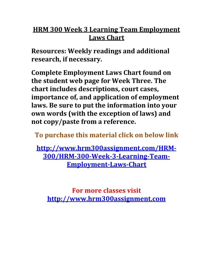 hrm 300 week 3 team eeoa rights Tutorialrank provides hrm 300final exam guides we offer hrm 300final exam answers, hrm 300 week 1,2,3,4,5, individual and team assignments, dq.