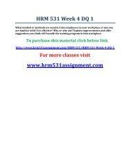 UOP HRM 531 Week 4 DQ 1